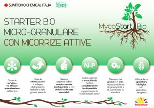 MYCOSTART BIO Concime granuli biologico con aggiunta di Micorrize 10 kg per prato e orto